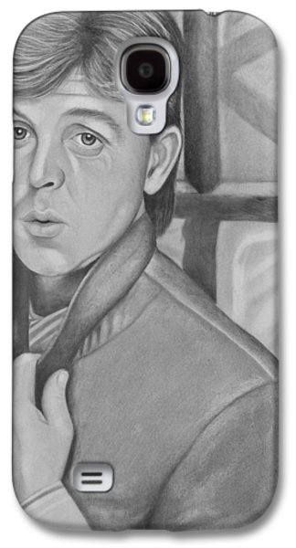 Drawing Galaxy S4 Cases - Paul McCartney Galaxy S4 Case by Jimmy Cothren