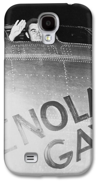 Little Boy Galaxy S4 Cases - Paul Tibbets In The Enola Gay Galaxy S4 Case by War Is Hell Store