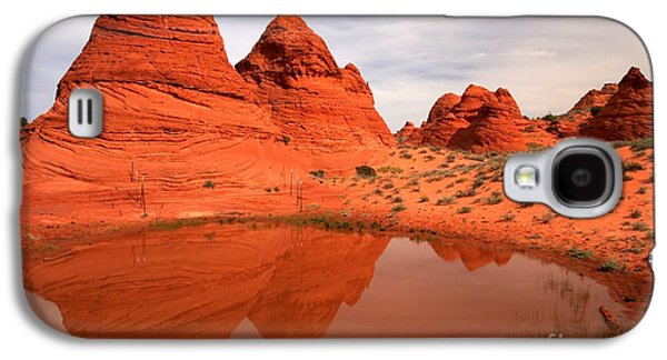 Holes In Sandstone Galaxy S4 Cases - Paw Hole Buttes Galaxy S4 Case by Adam Jewell