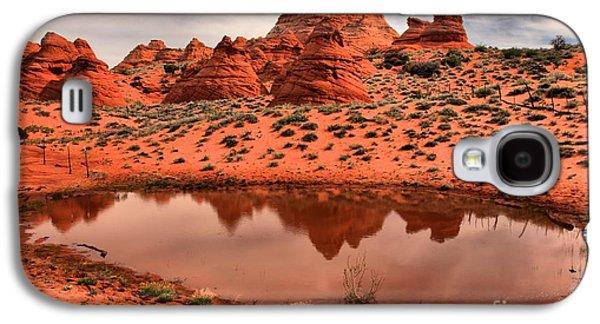 Holes In Sandstone Galaxy S4 Cases - Paw Hole Oasis Galaxy S4 Case by Adam Jewell
