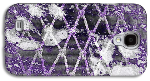 Puppies Digital Art Galaxy S4 Cases - Paw Prints Lilac Rope Galaxy S4 Case by Dorothy Berry-Lound