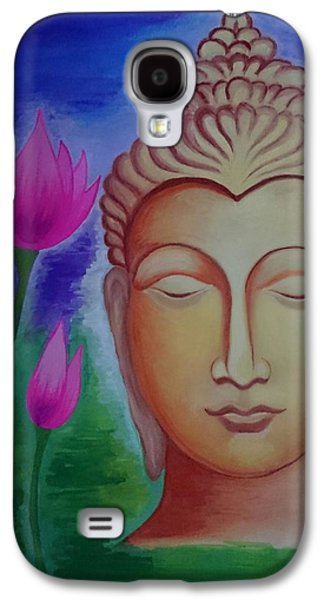 Normal Paintings Galaxy S4 Cases - Peace Galaxy S4 Case by Aakash Pawar