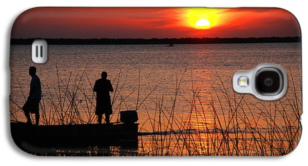 Evening Scenes Photographs Galaxy S4 Cases - Peace over the water Galaxy S4 Case by Susanne Van Hulst