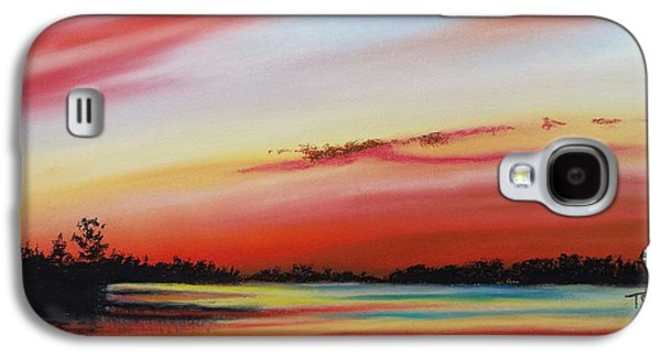 Waterscape Pastels Galaxy S4 Cases - Peaceful Evening Galaxy S4 Case by Tammy Crawford