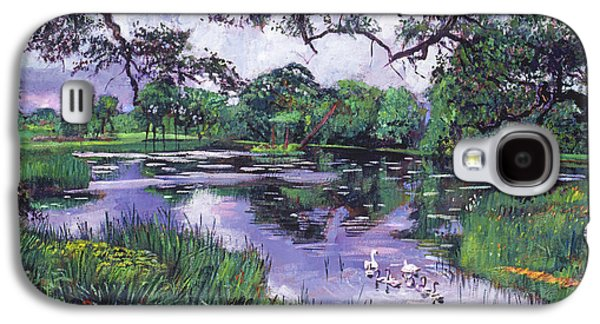 Pastoral Paintings Galaxy S4 Cases - Peacefull Lake Galaxy S4 Case by David Lloyd Glover