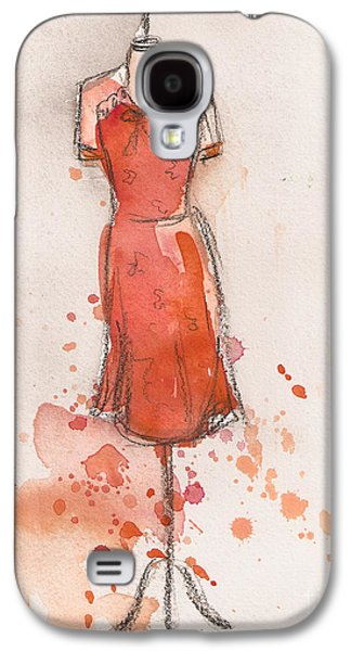 Peach And Orange Dress Galaxy S4 Case by Lauren Maurer