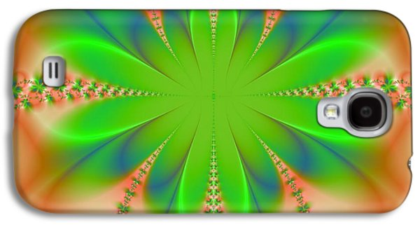 Abstract Digital Mixed Media Galaxy S4 Cases - Peach Butterfly Galaxy S4 Case by Regina Rodella