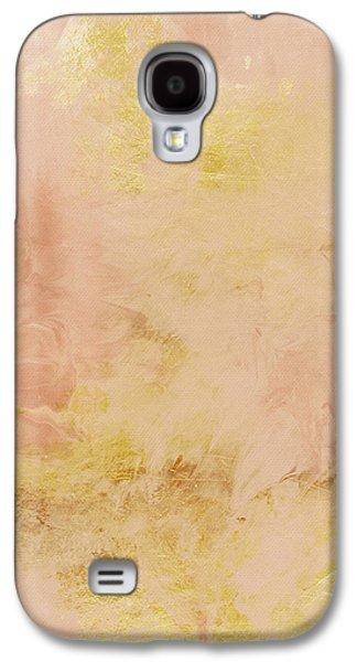 Harvest Art Galaxy S4 Cases - Peach Harvest- Abstract Art by Linda Woods. Galaxy S4 Case by Linda Woods