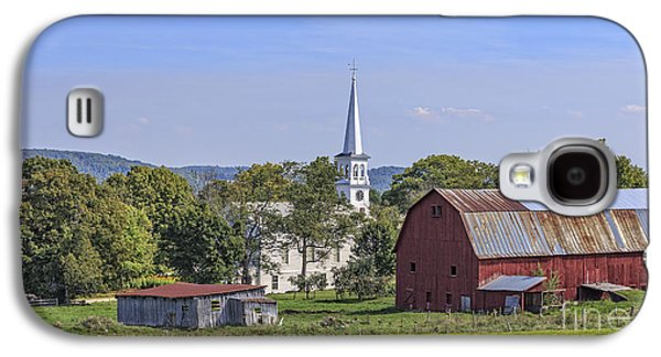 New England Village Galaxy S4 Cases - Peacham Vermont Idylic Vermont Scene Galaxy S4 Case by Edward Fielding