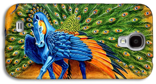 Peacock Pegasus Galaxy S4 Case by Melissa A Benson
