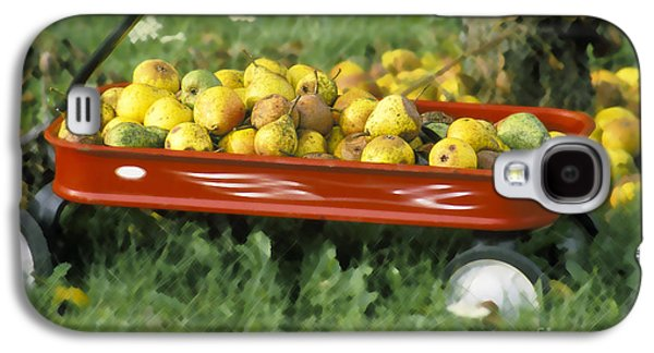 Harvest Time Galaxy S4 Cases - Pears in a Wagon Galaxy S4 Case by Gordon Wood