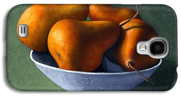 Day Paintings Galaxy S4 Cases - Pears in Blue Bowl Galaxy S4 Case by Frank Wilson