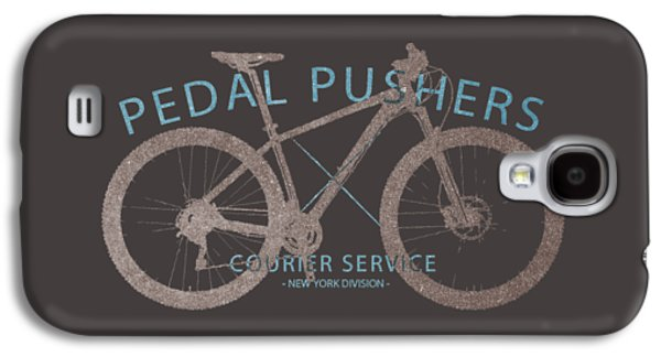 Pedal Pushers Courier Service Bike Tee Galaxy S4 Case by Edward Fielding