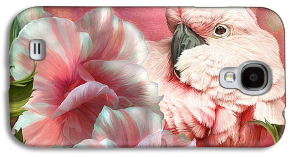 Peek A Boo Cockatoo Galaxy S4 Case by Carol Cavalaris
