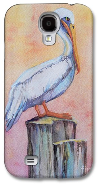"""""""indoor"""" Still Life Paintings Galaxy S4 Cases - Pelican Post Galaxy S4 Case by Sharon Nelson-Bianco"""