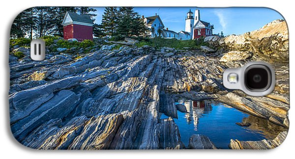 Maine Lighthouses Galaxy S4 Cases - Pemaquid Point Lighthouse Maine Galaxy S4 Case by Diane Diederich