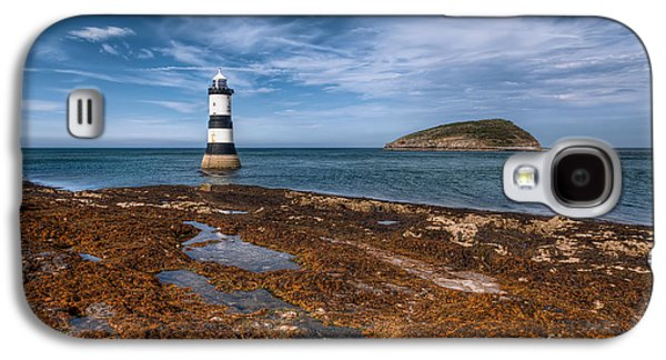 Shore Digital Art Galaxy S4 Cases - Penmon Lighthouse Galaxy S4 Case by Adrian Evans