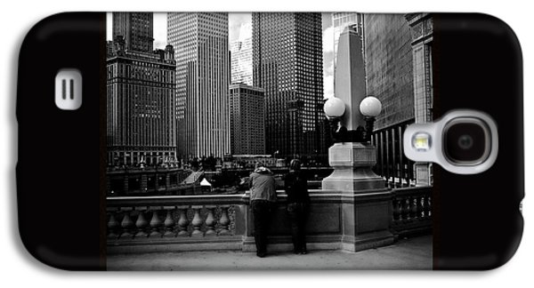 People And Skyscrapers - Square Galaxy S4 Case by Frank J Casella