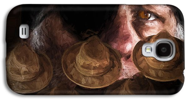 Mood Paintings Galaxy S4 Cases - People In The Box Galaxy S4 Case by Bob Orsillo