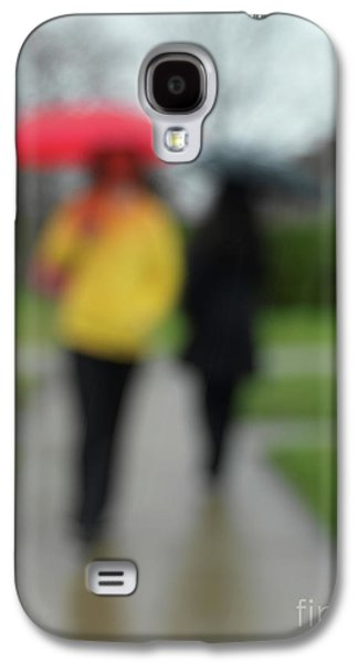 Rainy Day Photographs Galaxy S4 Cases - People in the Rain Galaxy S4 Case by Oleksiy Maksymenko