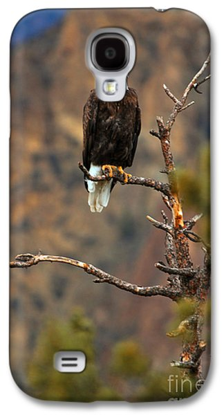 Perched At Smith Rock Galaxy S4 Case by Adam Jewell