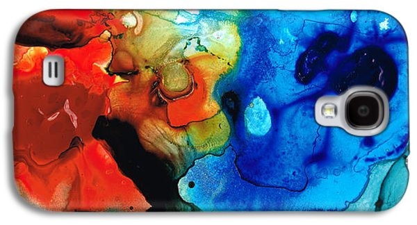 Abstract Art Canvas Paintings Galaxy S4 Cases - Perfect Whole and Complete Galaxy S4 Case by Sharon Cummings
