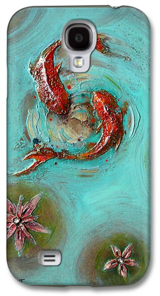 Buddhism Reliefs Galaxy S4 Cases - Iranian Pond with gold fish Galaxy S4 Case by Mehdi Ashlaghi