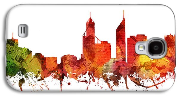 Australia Drawings Galaxy S4 Cases - Perth Cityscape 04 Galaxy S4 Case by Aged Pixel
