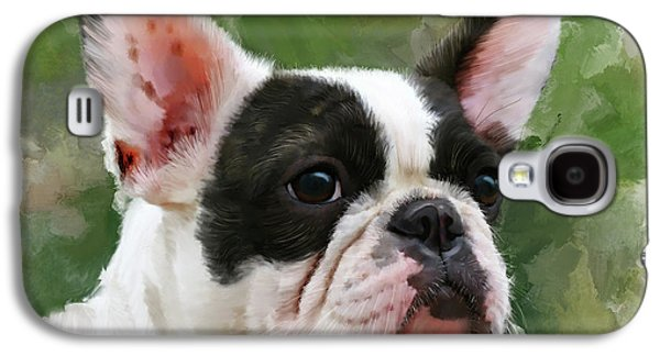 Pet Bulldog Portrait Galaxy S4 Case by Michael Greenaway
