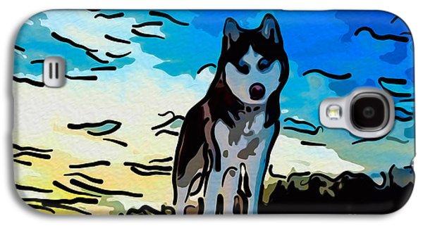 Dog Rescue Digital Galaxy S4 Cases - Pet Gone Wild Galaxy S4 Case by Omaste Witkowski