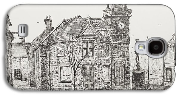 Pen And Ink Drawing Drawings Galaxy S4 Cases - Peter Pan Statue Kirriemuir Scotland Galaxy S4 Case by Vincent Alexander Booth