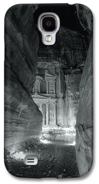 Nabatean Galaxy S4 Cases - Petra Siq Night Galaxy S4 Case by Stephen Stookey