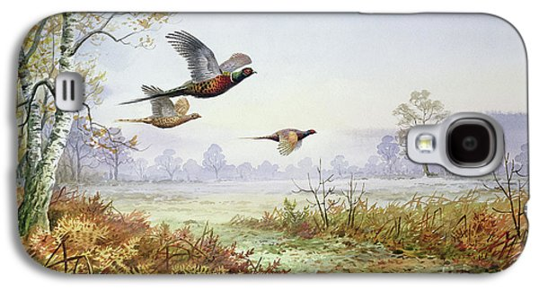 Pheasants In Flight  Galaxy S4 Case by Carl Donner