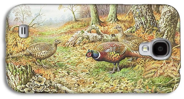 Pheasants With Blue Tits Galaxy S4 Case by Carl Donner