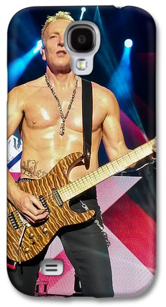 Phil Collen Of Def Leppard 5 Galaxy S4 Case by David Patterson