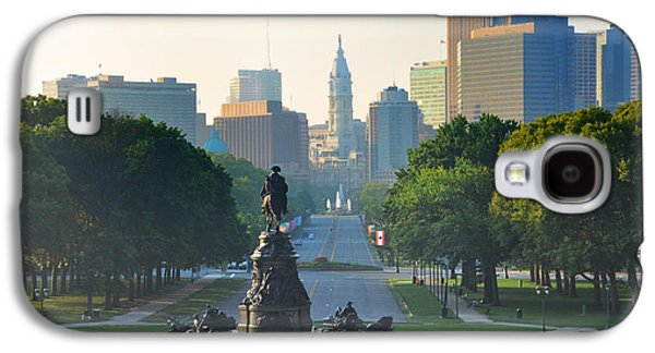Philadelphia Benjamin Franklin Parkway Galaxy S4 Case by Bill Cannon
