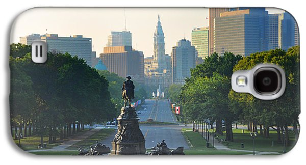 Philadelphia Benjamin Franklin Parkway Galaxy S4 Case by Bill Cannon
