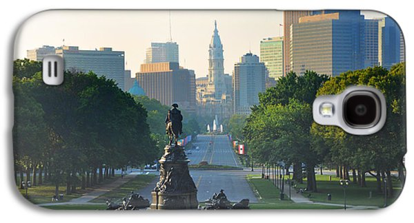 Benjamin Franklin Galaxy S4 Cases - Philadelphia Benjamin Franklin Parkway Galaxy S4 Case by Bill Cannon