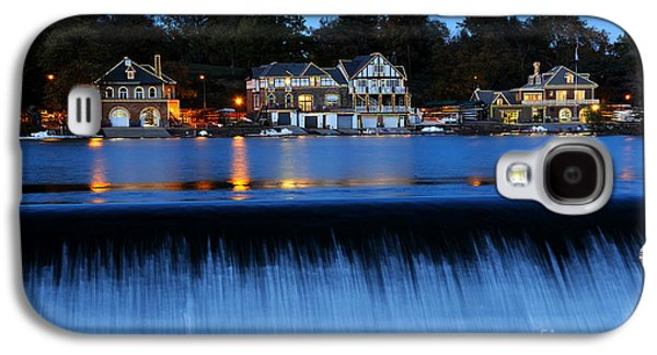 Schuylkill Galaxy S4 Cases - Philadelphia Boathouse Row at Twilight Galaxy S4 Case by Gary Whitton