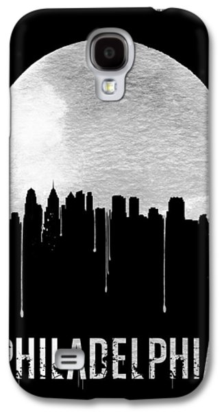 Philadelphia Skyline Black Galaxy S4 Case by Naxart Studio