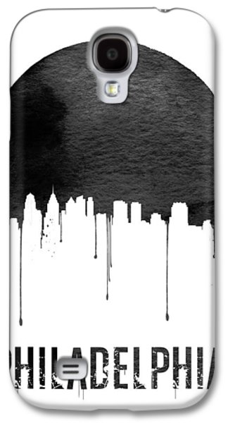 Philadelphia Skyline White Galaxy S4 Case by Naxart Studio