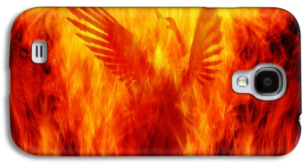 Flame Galaxy S4 Cases - Phoenix Rising Galaxy S4 Case by Andrew Paranavitana