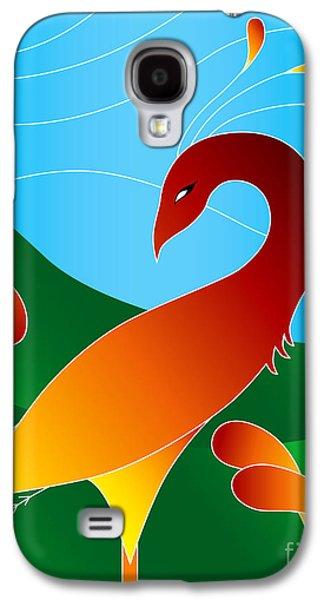 Digital Mixed Media Galaxy S4 Cases - Phoenix  Galaxy S4 Case by Robert Ball