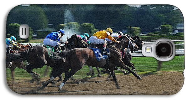 Sports Photographs Galaxy S4 Cases - Photo Finish Saratoga Galaxy S4 Case by Cyril Furlan