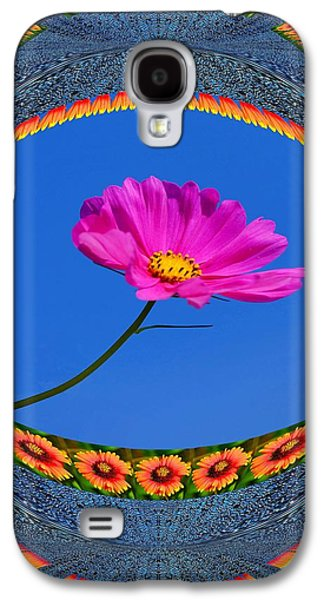 Abstract Digital Art Galaxy S4 Cases - Photo manipulated Flower Galaxy S4 Case by Constance Lowery