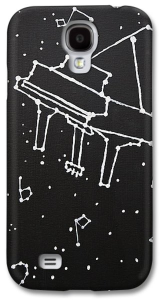 Constellations Paintings Galaxy S4 Cases - Piano Constellation Galaxy S4 Case by Izzy Anderson