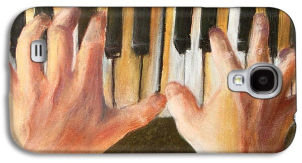 Piano Pastels Galaxy S4 Cases - Piano Hands Galaxy S4 Case by Madeline Jacknin
