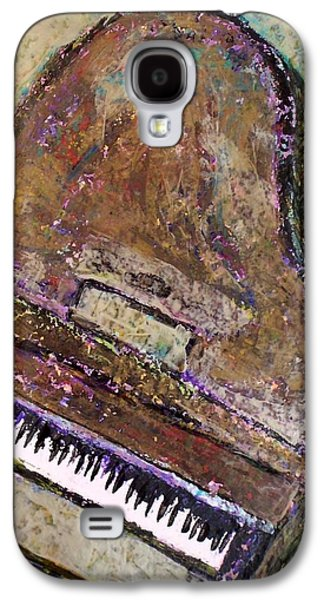 Piano Paintings Galaxy S4 Cases - Piano in Bronze Galaxy S4 Case by Anita Burgermeister
