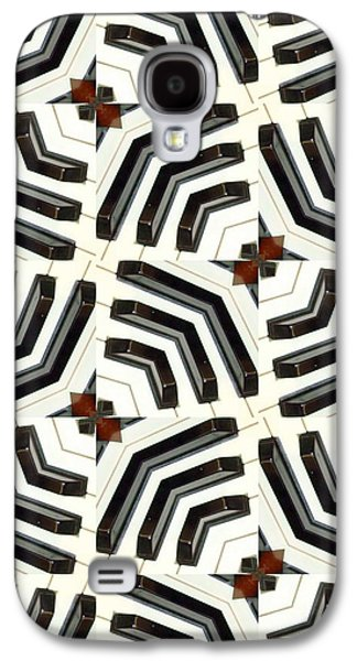 Abstract Digital Mixed Media Galaxy S4 Cases - Piano Keys II Galaxy S4 Case by Maria Watt