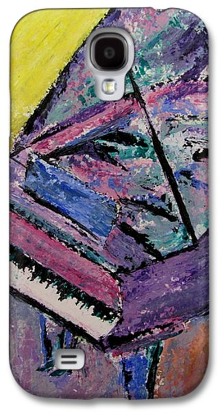 Piano Paintings Galaxy S4 Cases - Piano Pink Galaxy S4 Case by Anita Burgermeister